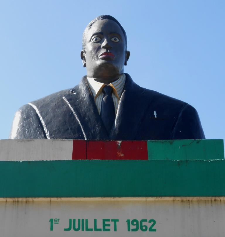 Le buste suposé être du Prince Louis Rwagasore