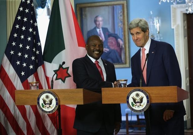 Pierre Nkurunziza et John Kerry