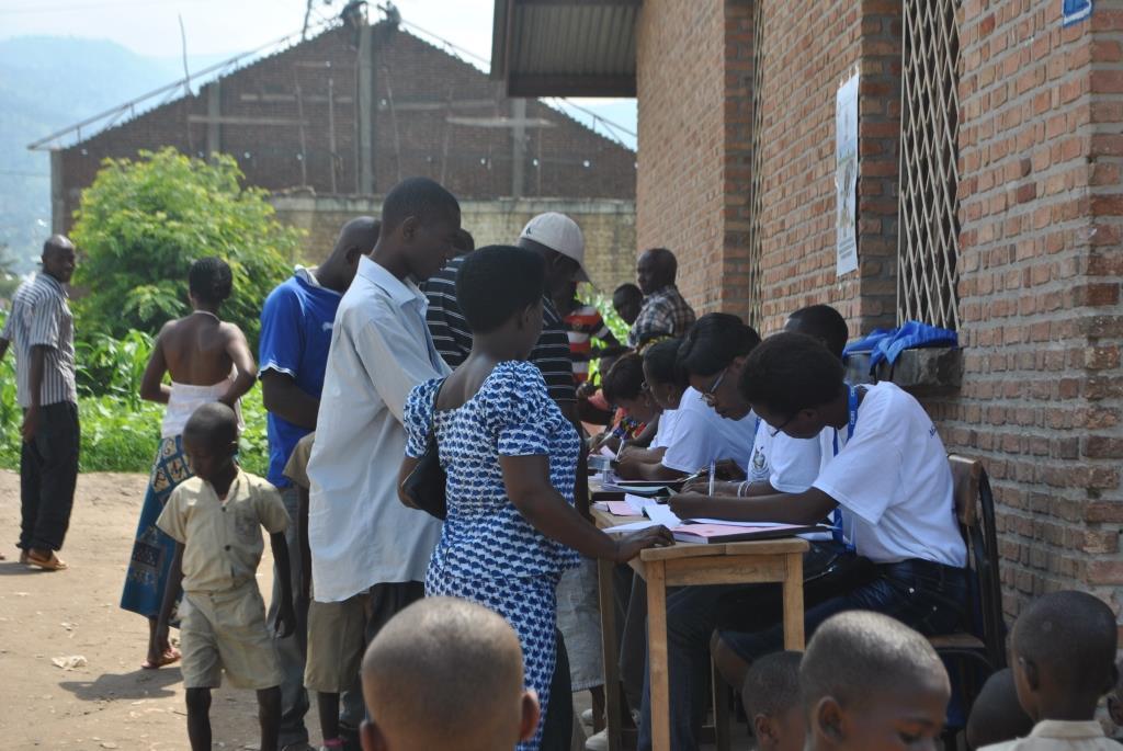 Lors de l'enrôlement des électeurs pour le scrutin de 2015